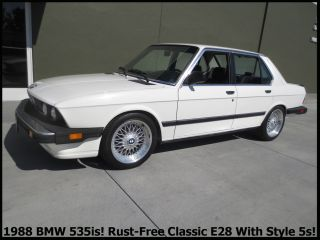 +rare Classic 1988 Bmw 535is Rust - E28 California Car Cold A / C Lots More + photo