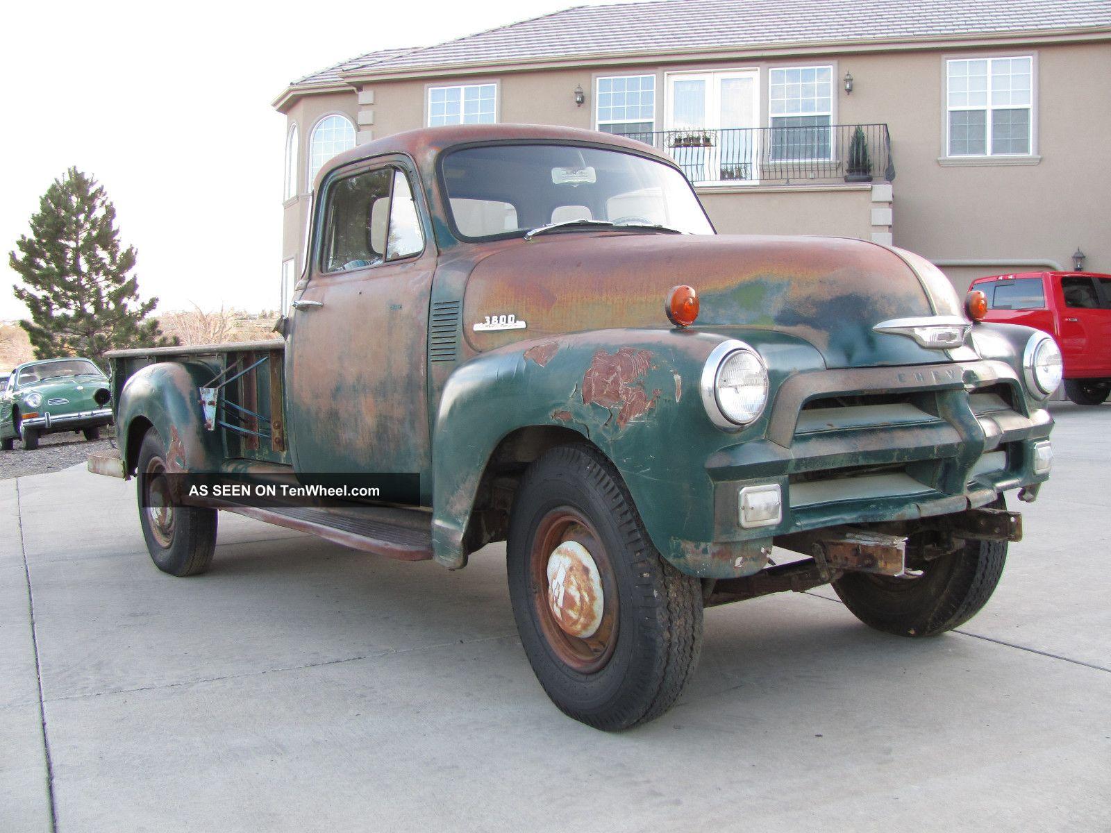 1954 Chevrolet 3800 5 Window Pickup Truck Barn Find Cond Rat Rod Pick Up