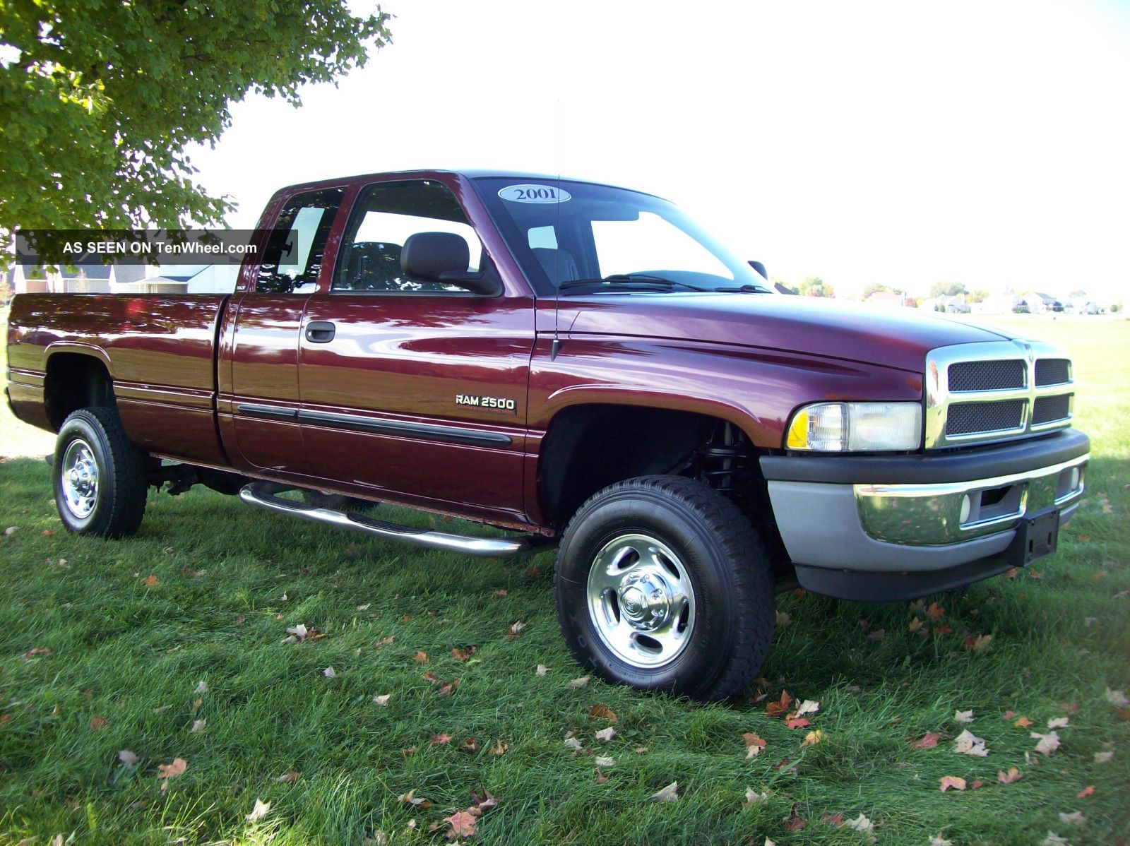 2001 Dodge Ram 2500 Quad Cab 4x4 Slt Manual Cummins Diesel Long Bed No Rust