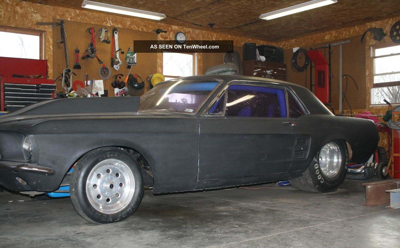 1967 Mustang Drag Car Prostreet Hotrod Fast Tubbed Bbf 9 \