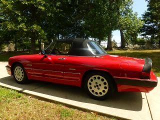 1986 Alfa Romeo Spider Quadrifoglio Convertible 2 - Door 2.  0l photo
