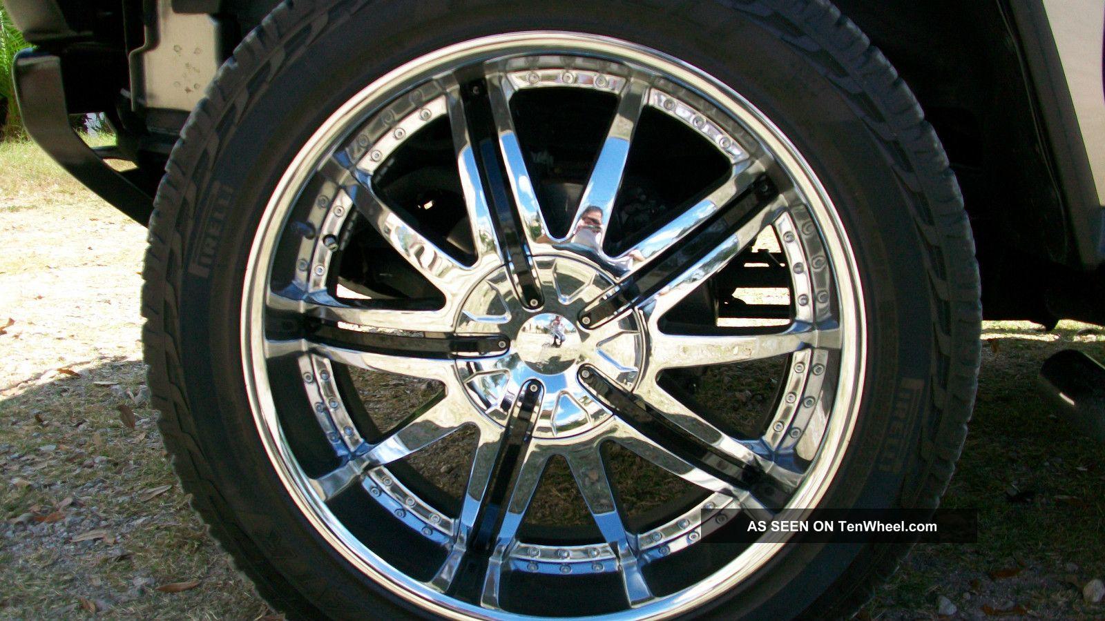 24 wheels chrome - 2005 Hummer H2 Luxury 4x4 Dvd Chrome Pkg 24 Wheels