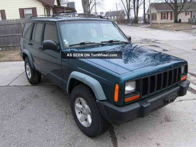 1997 jeep cherokee xj four door 4x4 five speed manual rare stick shift. Black Bedroom Furniture Sets. Home Design Ideas