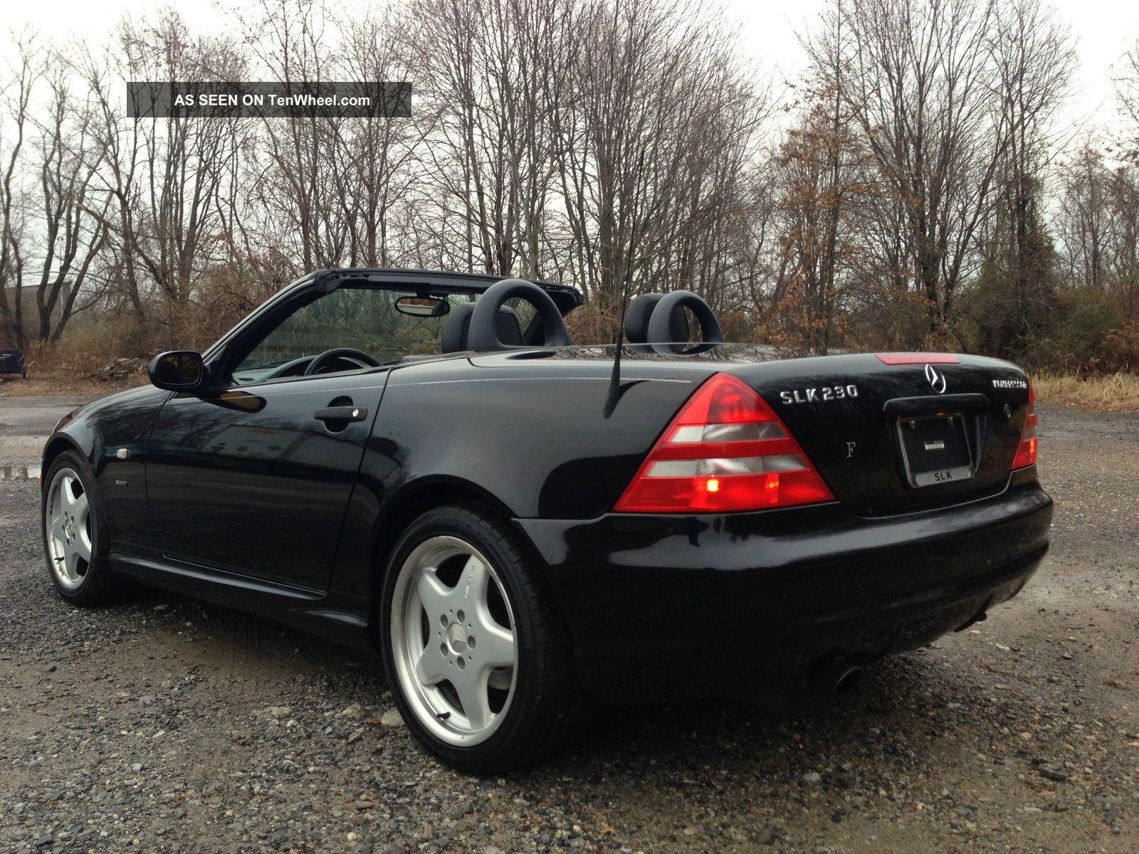 1999 Mercedes Benz Slk 230 Black Beauty Sport Package 17