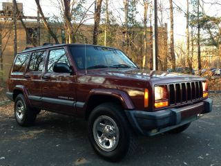 2000 Jeep Cherokee Sport Awd Chrome Rims No Accidents photo
