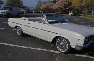 1965 Skylark Convertible White Int.  &ext Drive Anywhere.  Cond photo