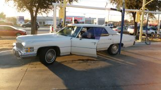 1974 Cadillac Sedan Deville,  White 4 Door,  472 Cu In (7.  7l) Ohv V8 photo
