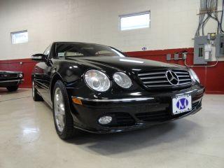 2005 Mercedes - Benz Cl500 Coupe Black.  Gorgeous photo