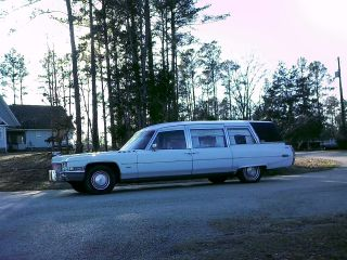1971 Cadillac Hearse Miller - Meteor Eterna Side Loader Rare Funeral Coach Look photo