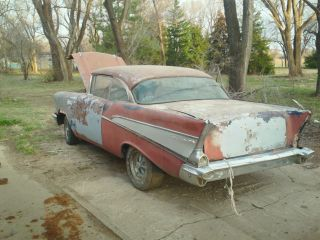 1957 Chevy Chevrolet Belair Hardtop Project photo