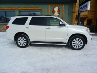 2010 Toyota Sequoia Platinum 4 - Door 5.  7l Blizzard Pearl - Tires - 4wd photo