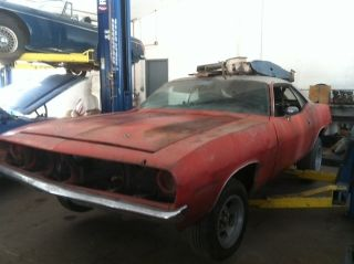 1970 Plymouth Cuda Project Car Orig Motor Must C Look photo
