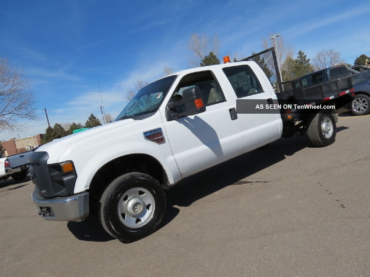 2008 ford f 350 crew cab 4x4 flatbed diesel 4x4 fleet all power runs gr8. Black Bedroom Furniture Sets. Home Design Ideas