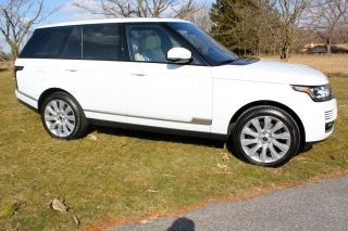 2013 Range Rover Supercharged Sc Fuji White / Ivory photo