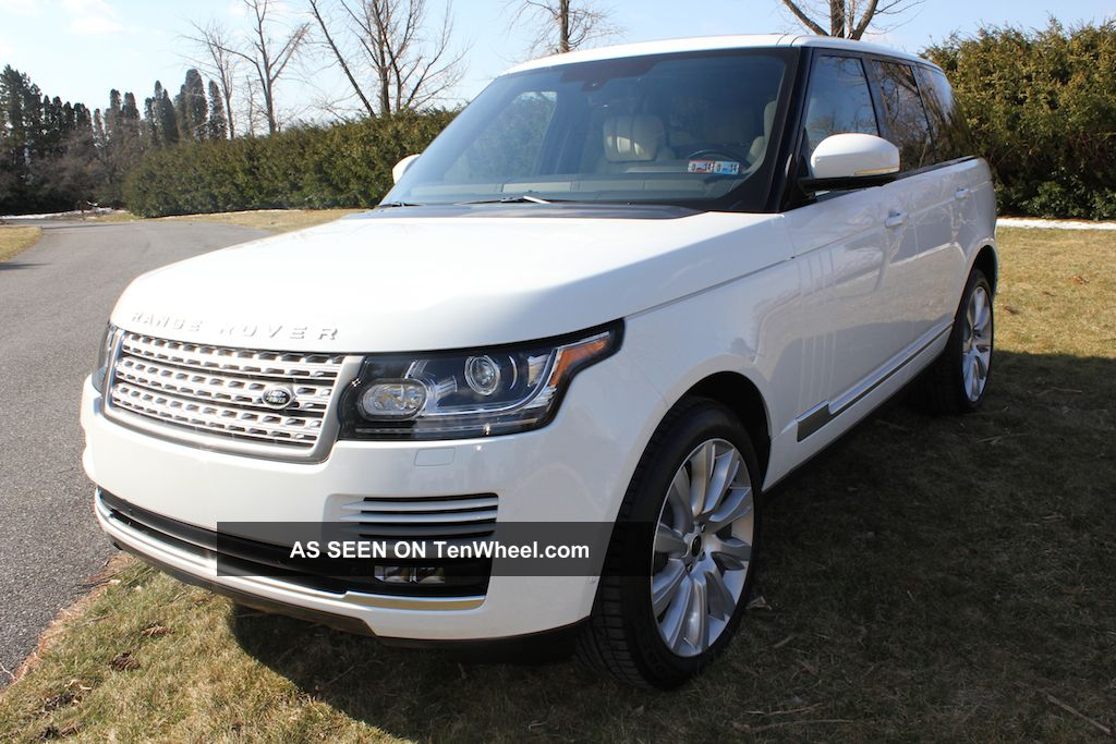 Range Rover 3rd Row >> 2013 Range Rover Supercharged Sc Fuji White / Ivory