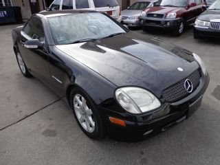 2001 Mercedes - Benz Slk230 Kompressor Hard Top Convertible 2 - Door 2.  3l Black photo