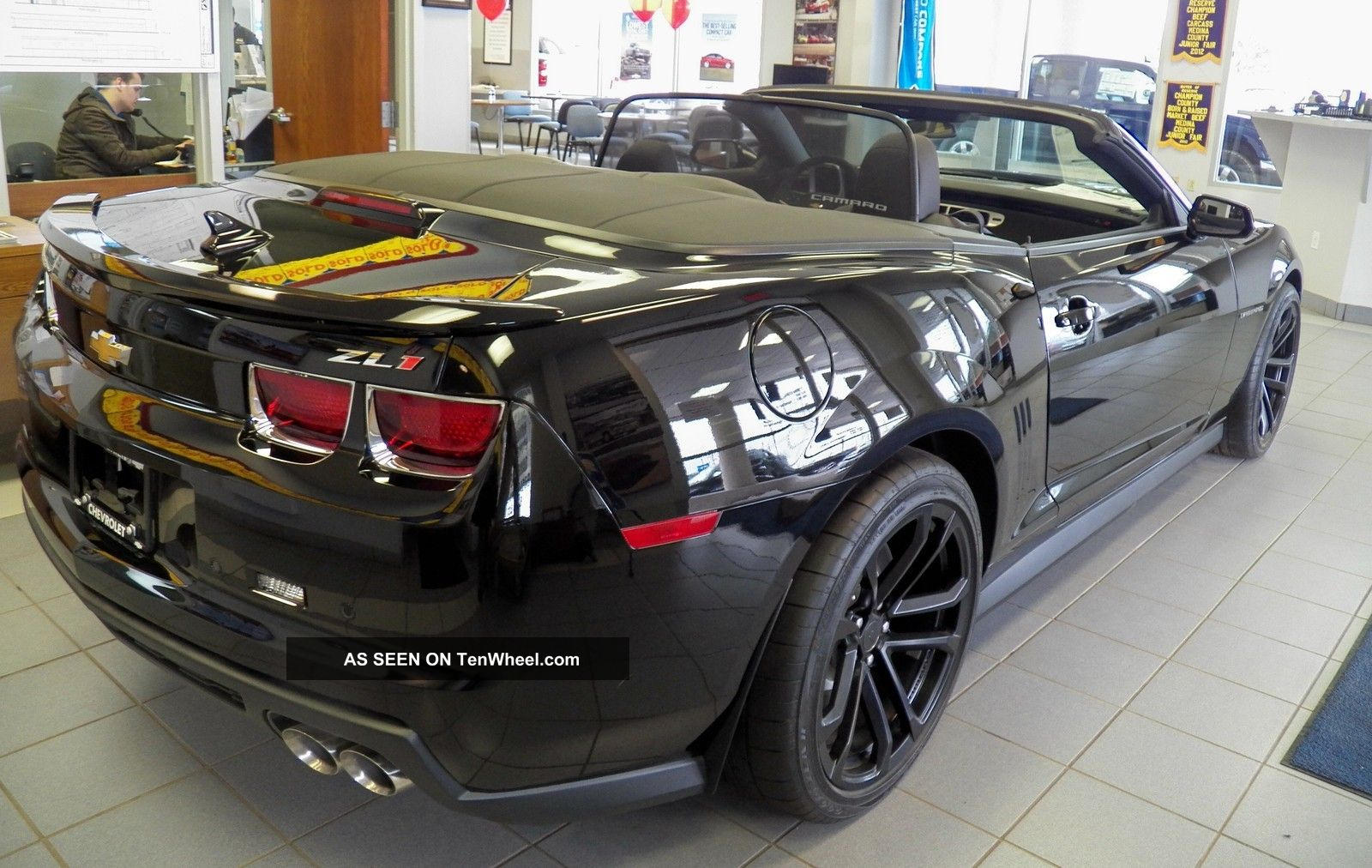 Black camaro zl1 convertible
