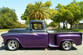 1957 Chevy Chevrolet Short Bed Pro Touring Show Truck Pickup Pick Up Custom photo