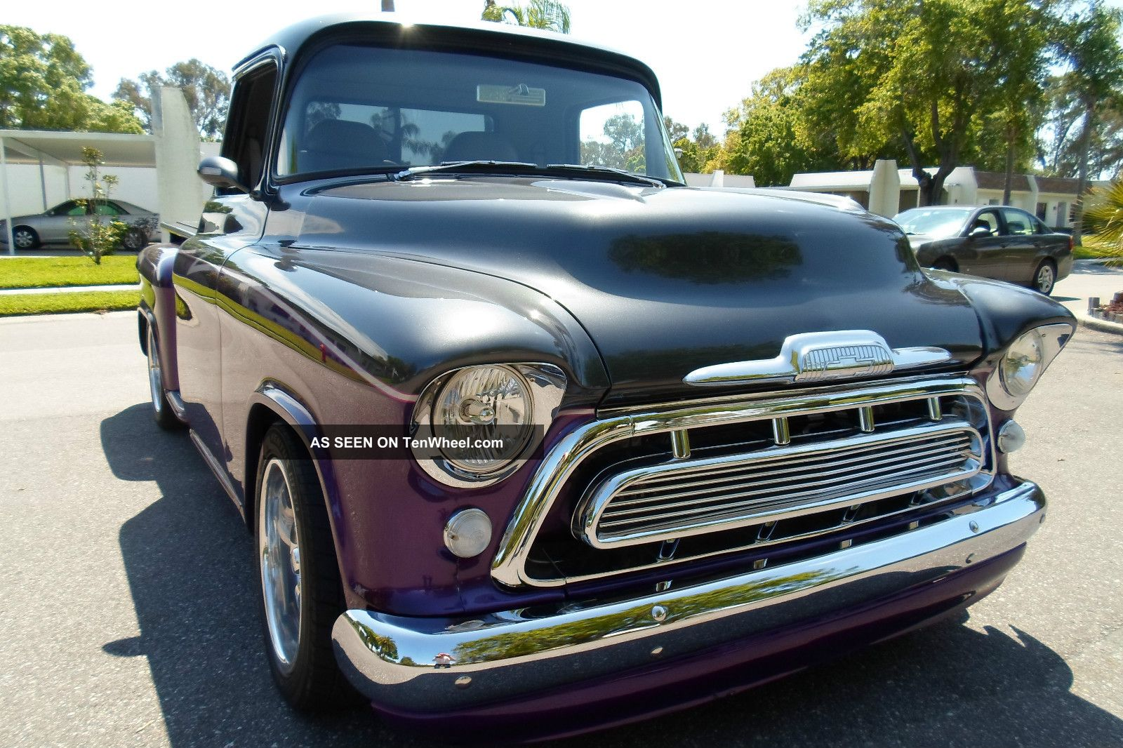 1957 chevy chevrolet short bed pro touring show truck. Black Bedroom Furniture Sets. Home Design Ideas
