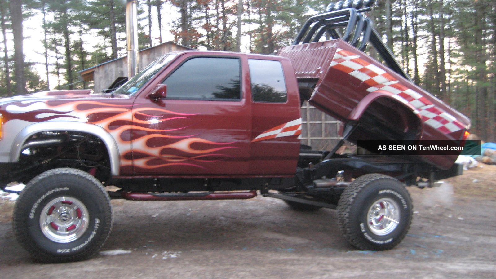 Lifted Customized Pick Up Tires Suspension Body Lift Custom Paint Lgw on 2012 Dodge Dakota Pickup Truck