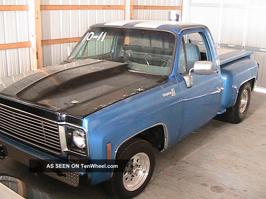 1976 Chevy C 10 Stepside Bb 468 400 Trans 9 Inch Pro Street Or Custom Deluxe Truck Dirt Drags Good