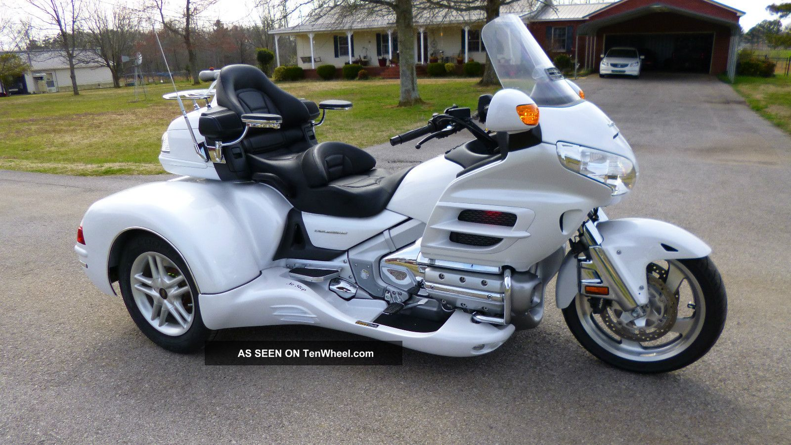 2008 Honda Goldwing Pearl Alpine White Csc Trike