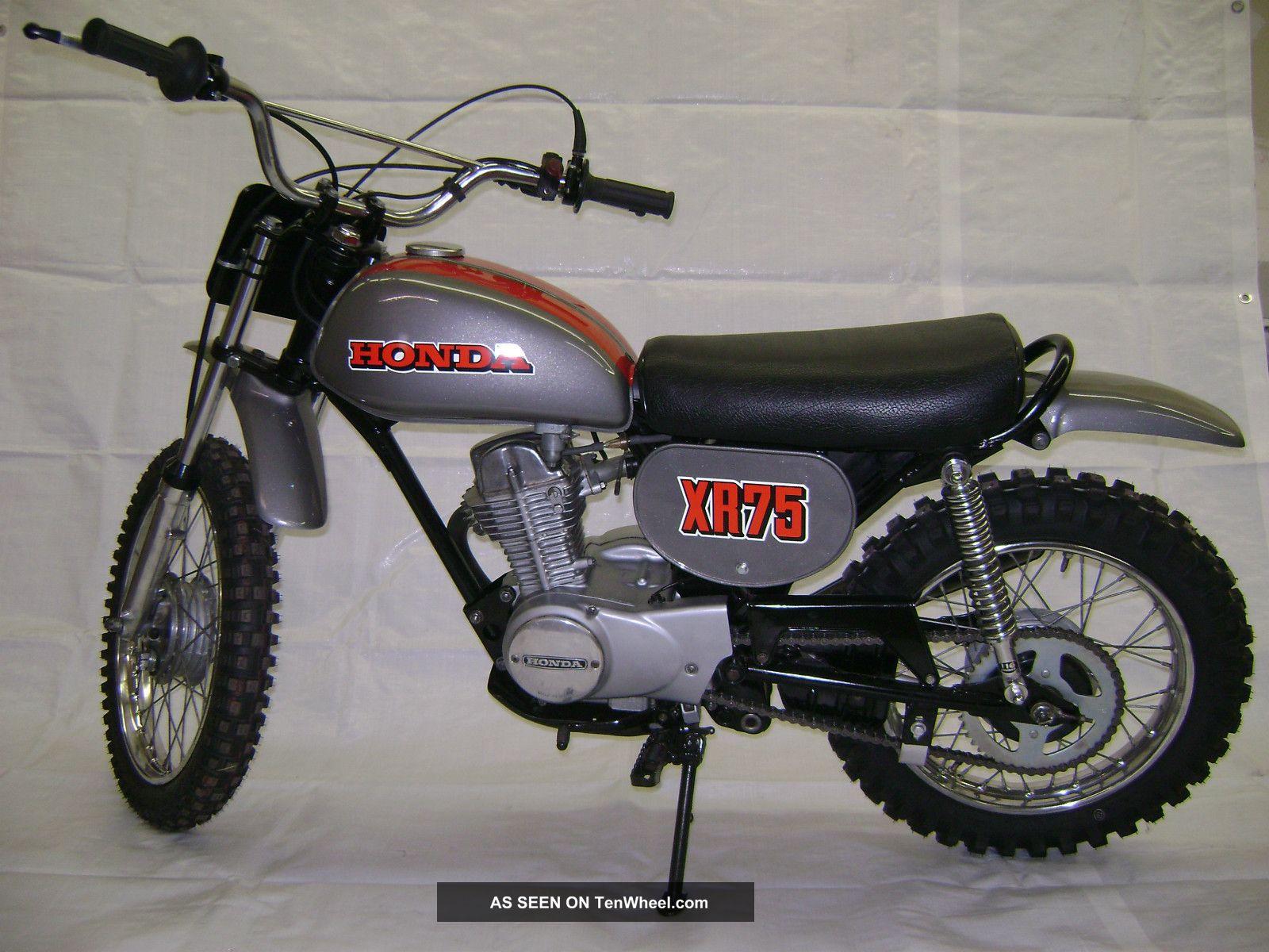 73 1973 Honda Xr75 Motorcycle Xr - 75 Xr 75 XR photo