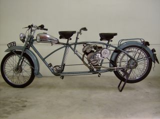 1950 Whizzer Tandem,  Unrestored,  Built In Luxembourg photo