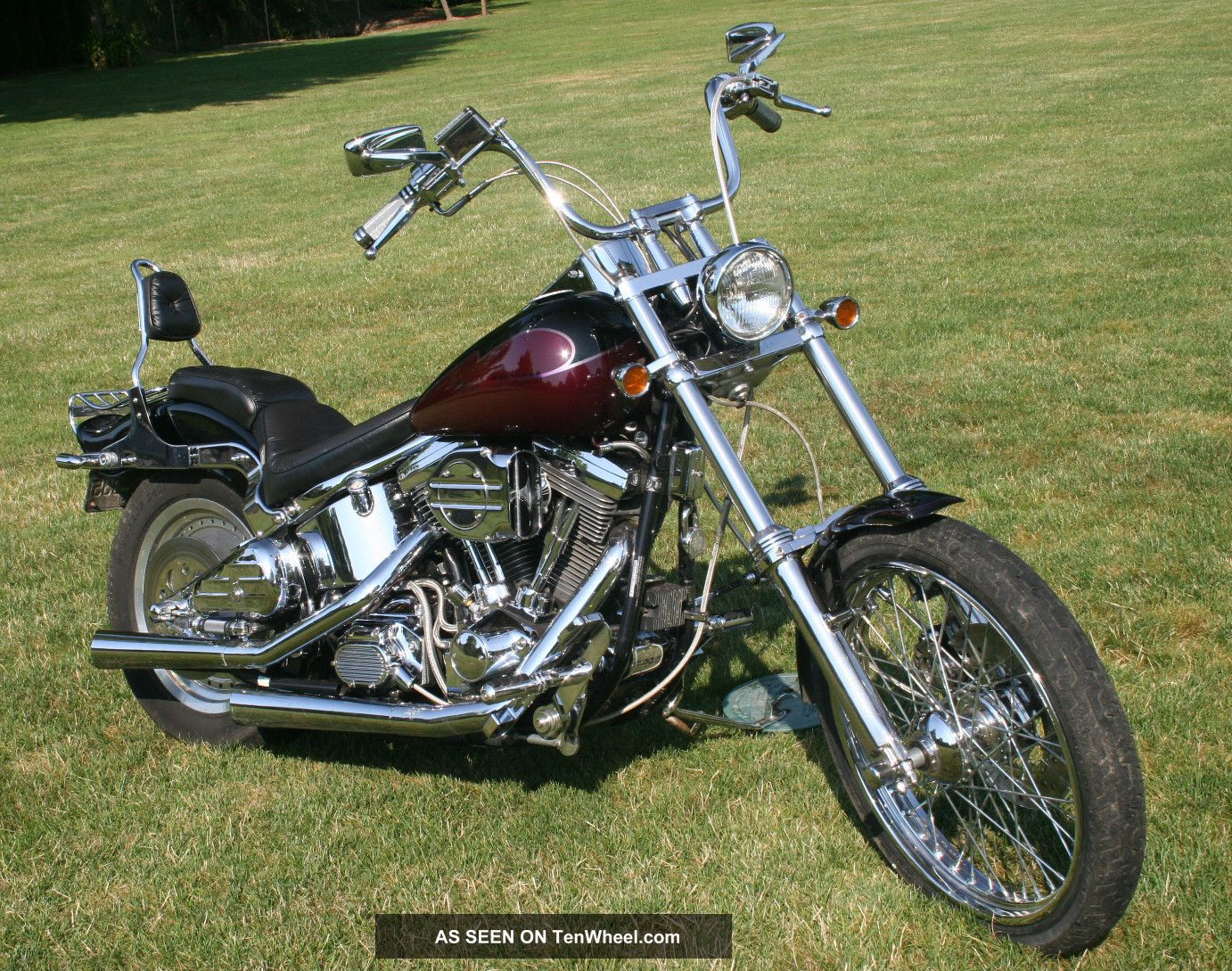 1991 Harley Davidson Softail Custom Fxstc Chopped Ghost Graphics Long Low Wide