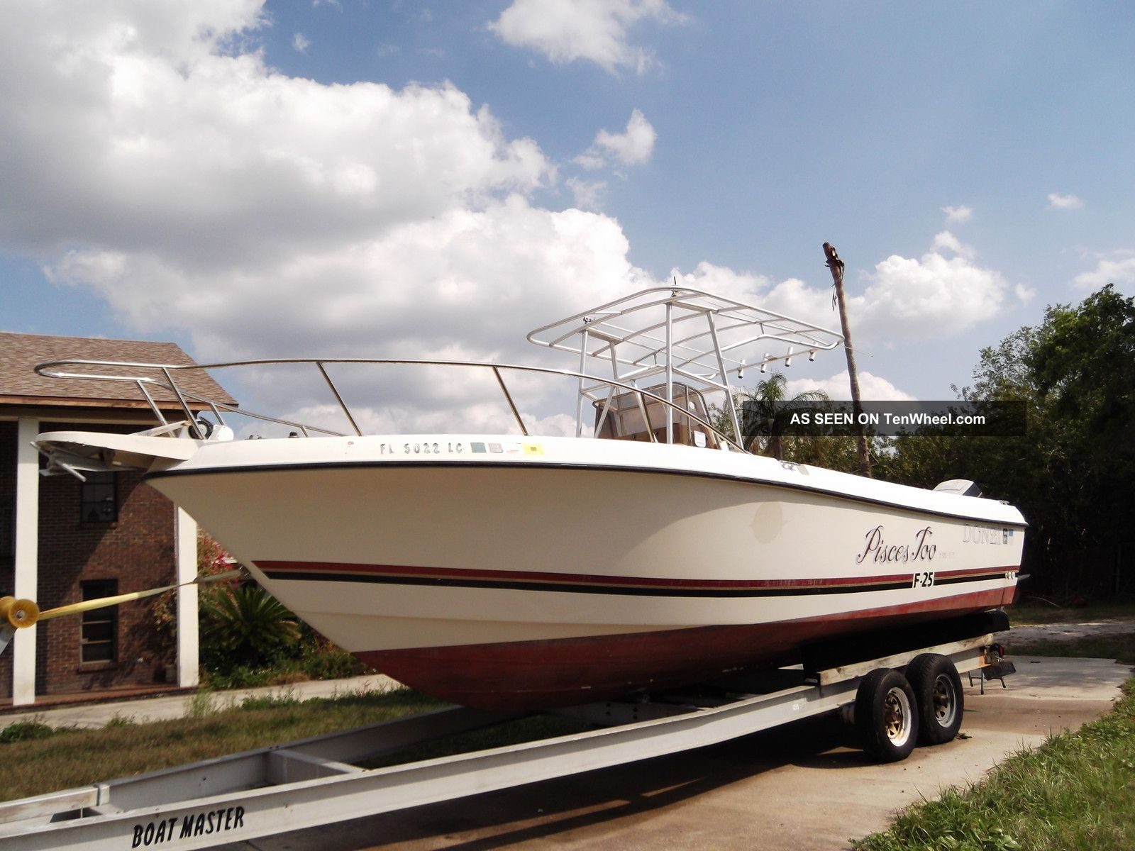 1990 donzi marine f25 for Donzi fishing boats