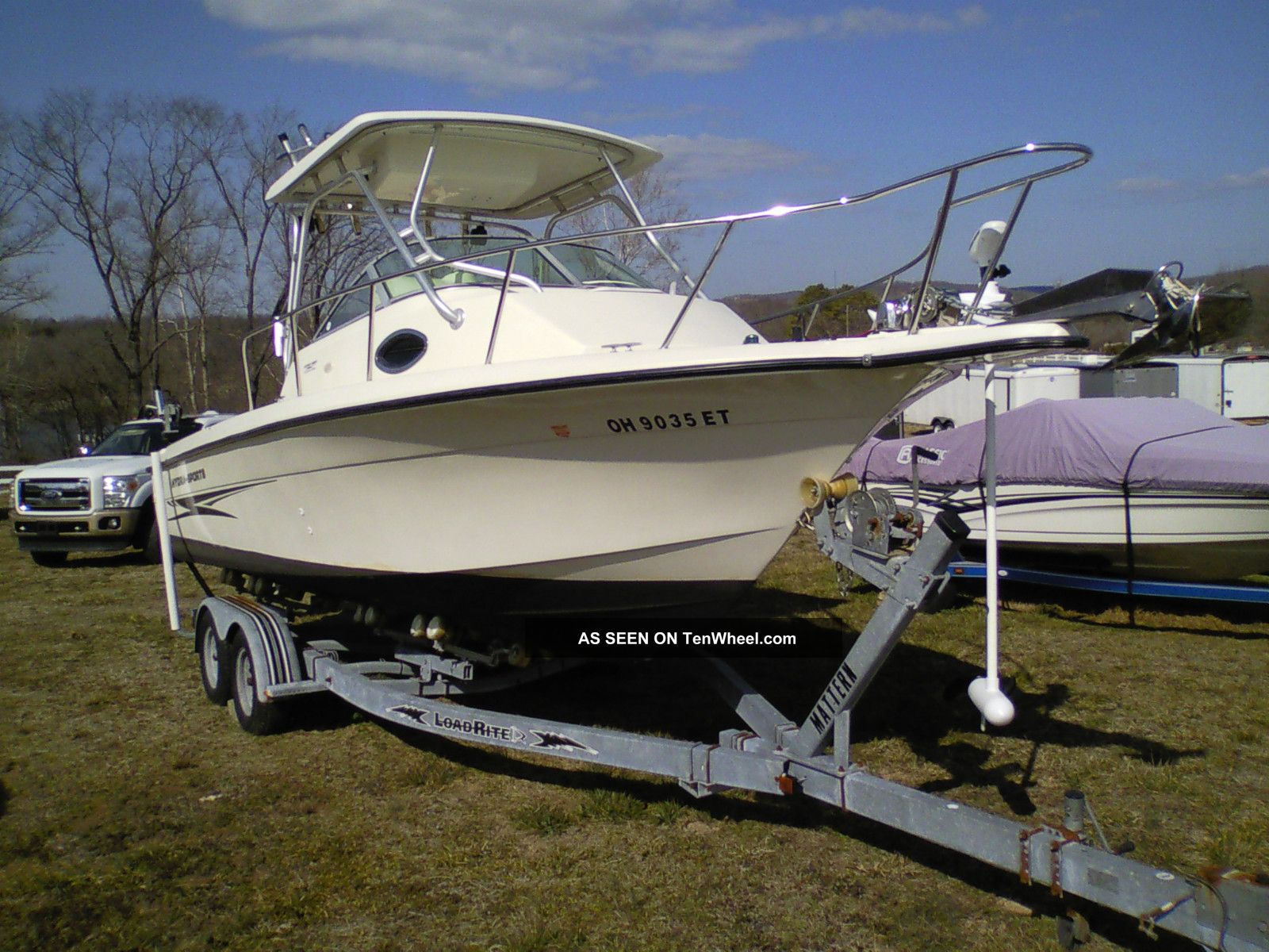 2004 hydra sports 230 wa hardtop cuddy cabin fishing boat