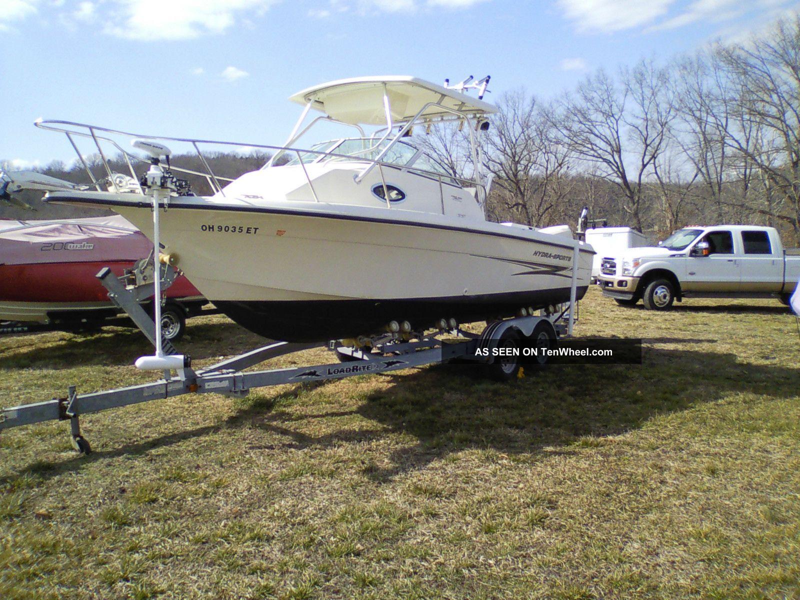 2004 Hydra Sports 230 Wa Hardtop Cuddy Cabin Fishing Boat