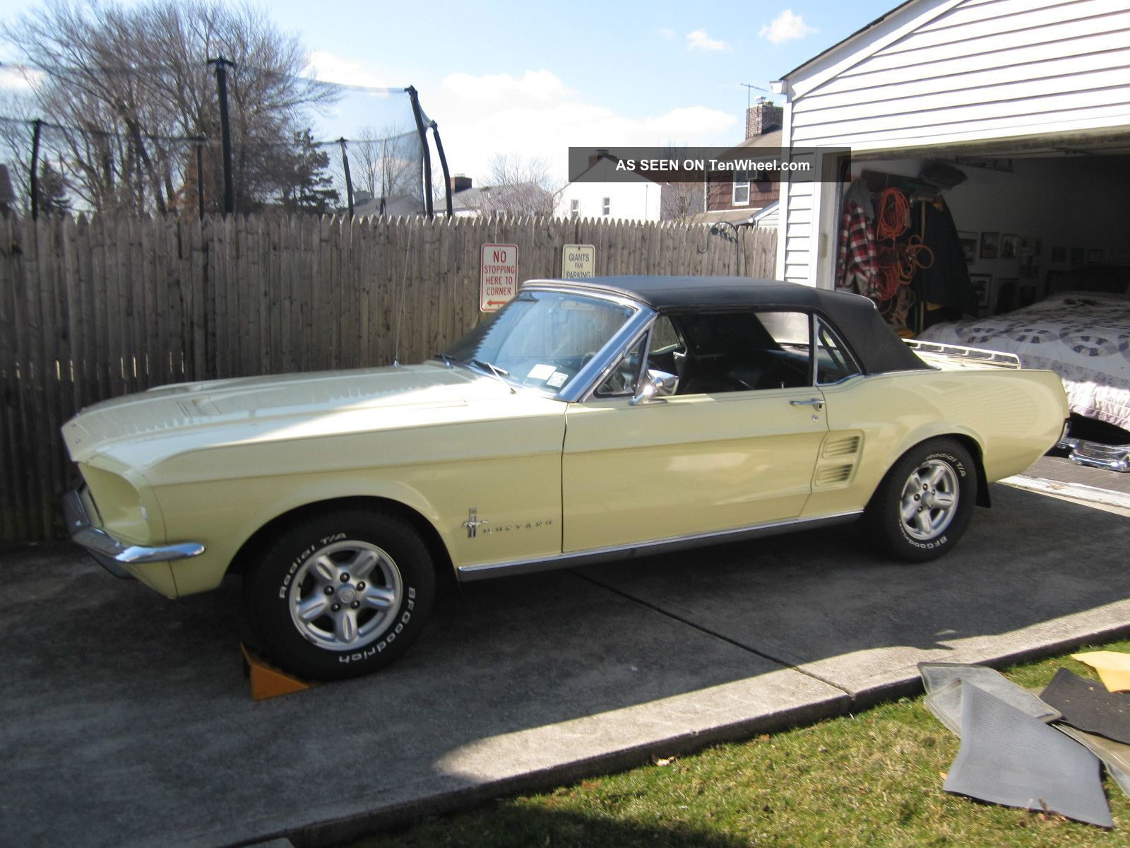 1967 ford mustang convertible springtime yellow paint
