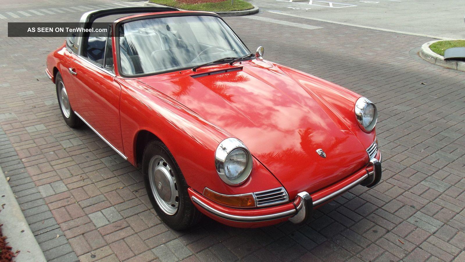 1968 porsche 912 soft window targa tangerine with black for 1968 porsche 912 targa soft window