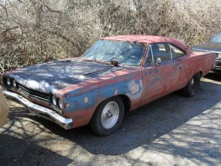1969 Plymouth Roadrunner Street Strip Dana Project Drag Race Fender Tag photo