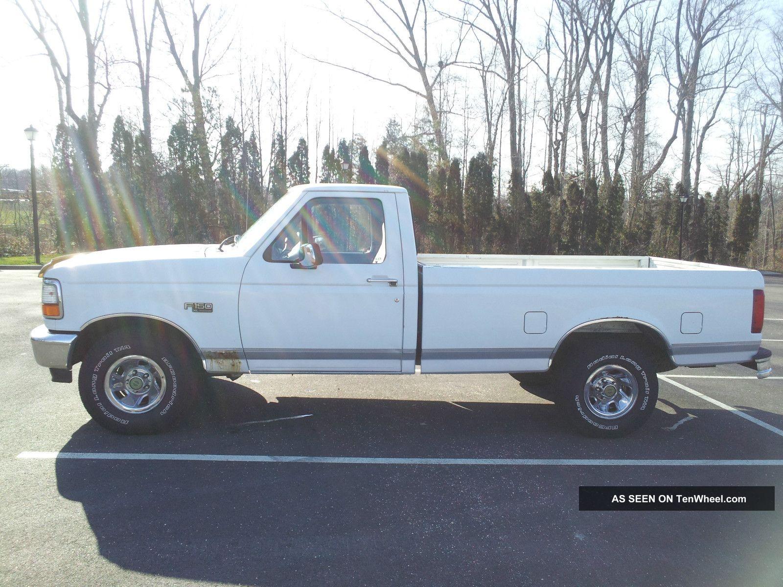 1996 ford f 150 xl standard cab pickup 2 door 5 0l efi. Black Bedroom Furniture Sets. Home Design Ideas