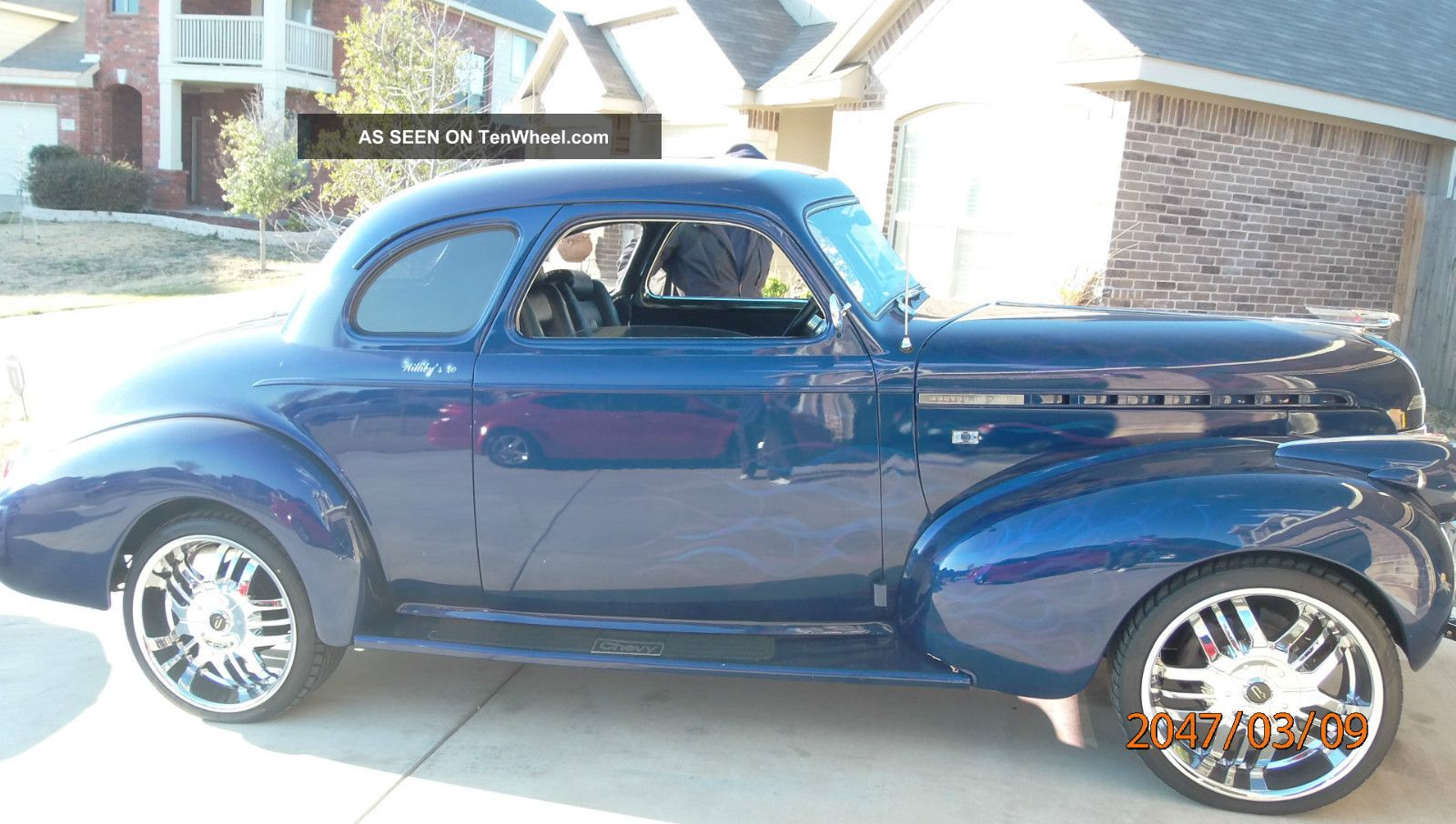 Blue With Ghost Flames On The Side 1940 Chevy Master Deluxe Other photo