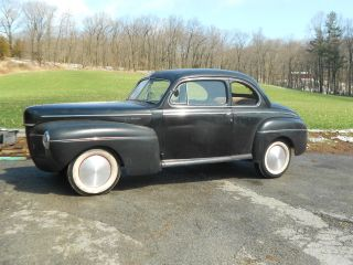 1941 Mercury Coupe Old Hot Rod 327 Chevy Custom Gasser Flathead Rat Vintage Cool photo