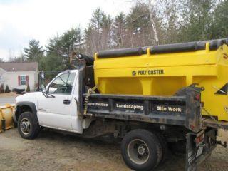 2007 Gmc Duramax Diesel 3500hd Dually Dump Plow Truck photo