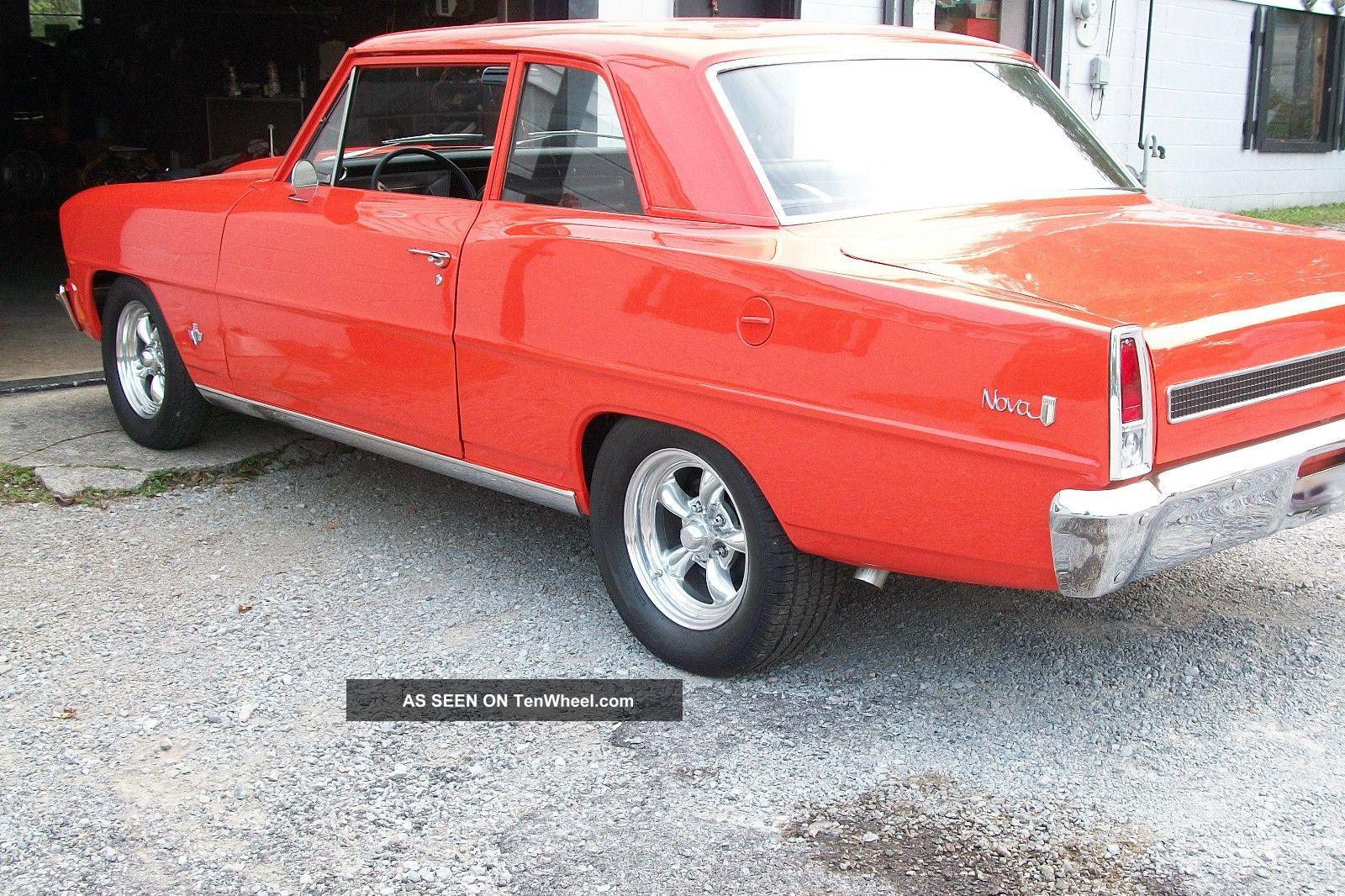 1967 Chevy Ii Nova 2 Dr Street Fast Car - Quick Hugger Orange Nova photo
