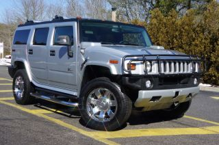 2009 Hummer H2 Rare Silver Ice Dvd Entertainment Moon Roof photo