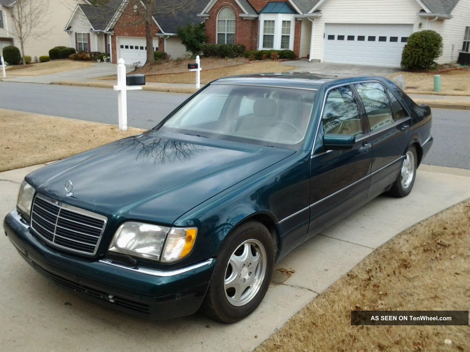 Mercedes benz s500 1997 palamino seats interior dark for Green mercedes benz