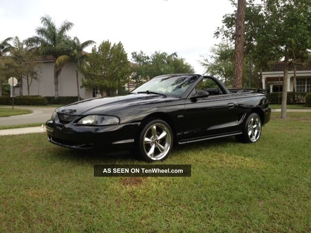1998 Ford Mustang Gt Convertible 2 Door 4 6l Must Sell