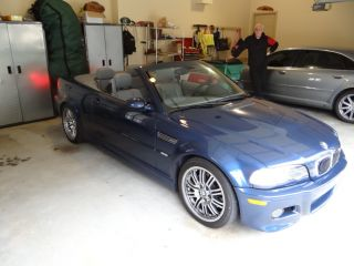 2003 Blue / Dove E46 M3 Convertible 6 Speed photo