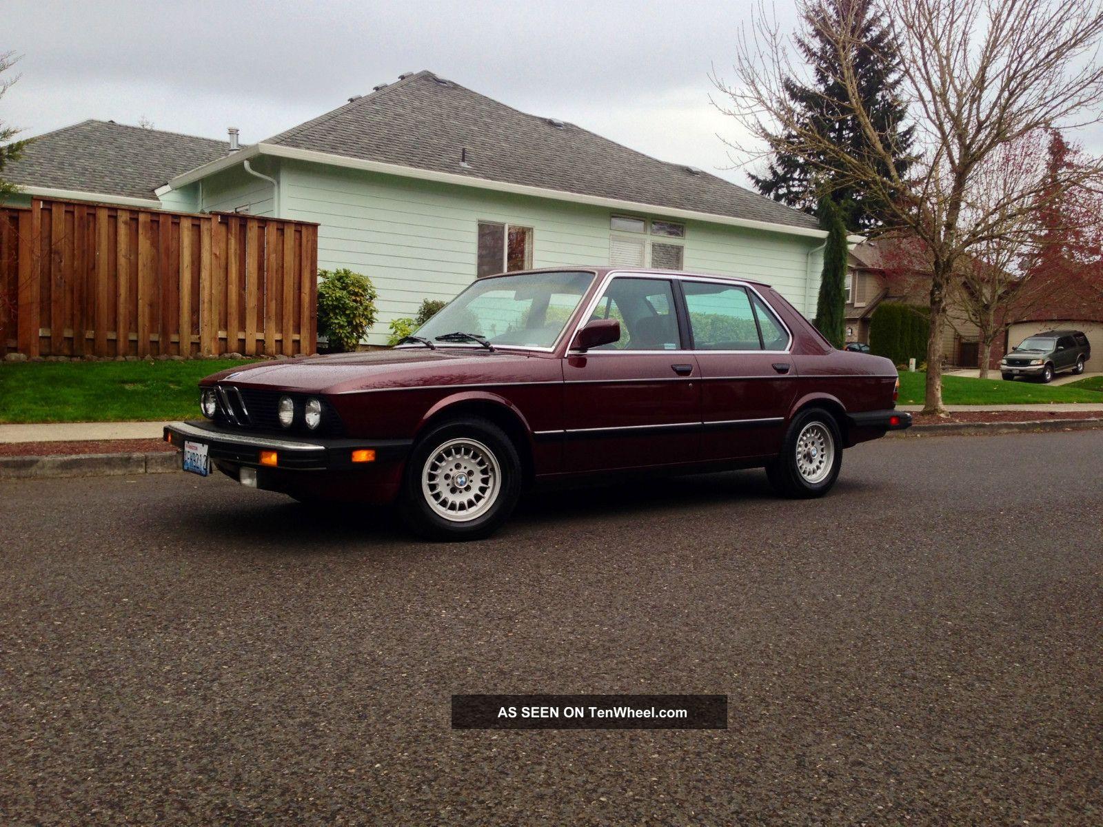 1985 Bmw 524td Sedan Diesel Excellent Conditon 1984 1983 5-Series photo