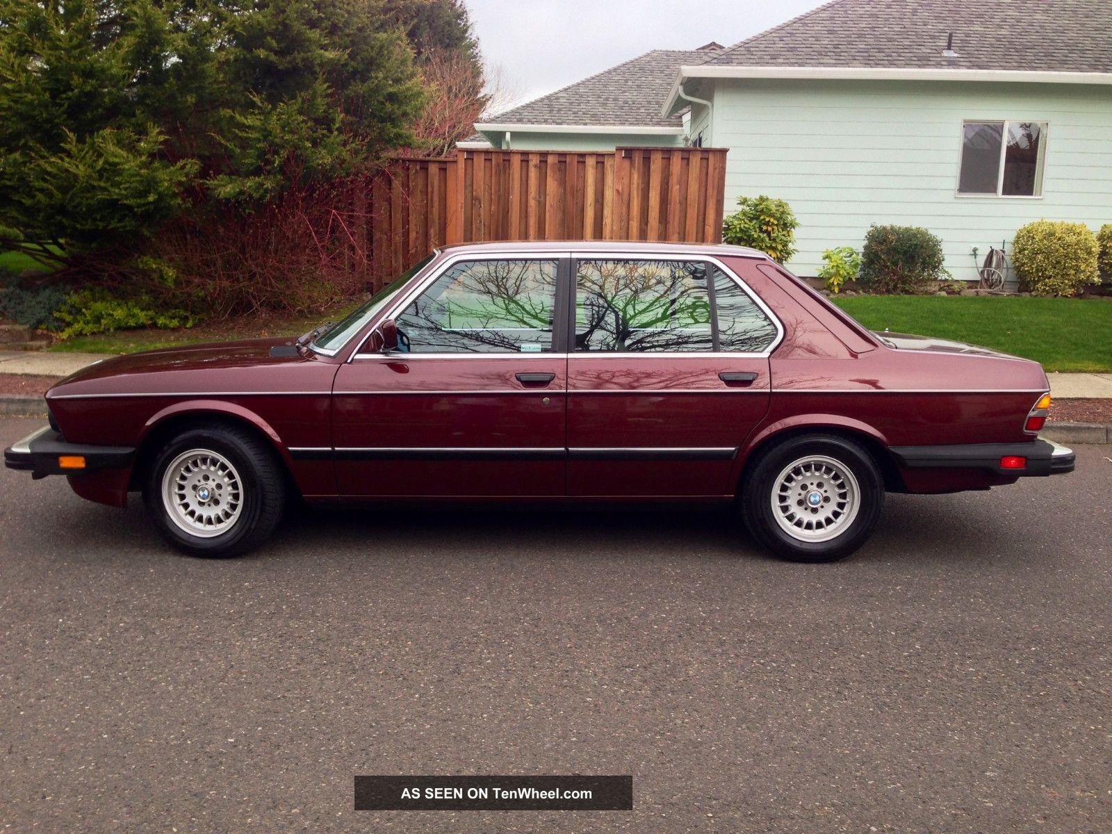 1985 Bmw 524td Sedan Diesel Excellent Conditon 1984 1983