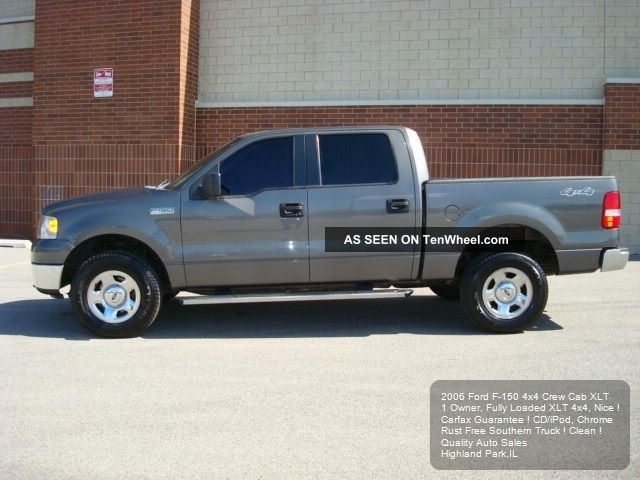 2006 ford f150 4x4 crew cab xlt ipod cd 4 6l v8 sliding rear window. Black Bedroom Furniture Sets. Home Design Ideas