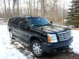 2003 Cadillac Escalade Esv,  Loaded,  Many Extras,  Black,  Tints.  4x4. photo