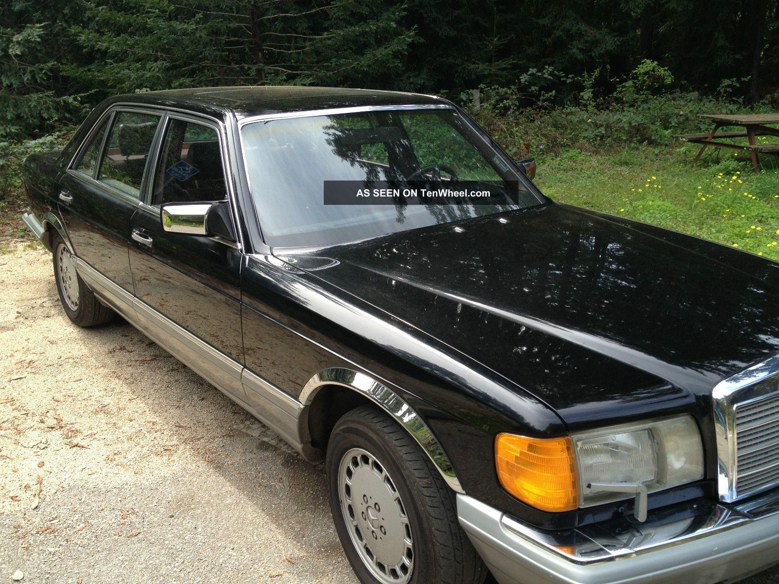 1987 Mercedes - Benz 300sdl Luxury Sedan Black Diesel 195k 300-Series photo