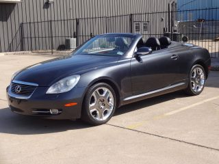 2006 Lexus Sc 430 Hard Top Convertible Gray Ext Black Int photo